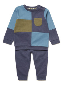 Blue Sweat and Joggers Set (0-24 months)