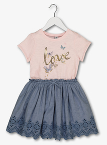 93bf390f1 Multicoloured Love Twofer Dress (3-14 years)