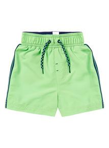 Boys Green Woven Short