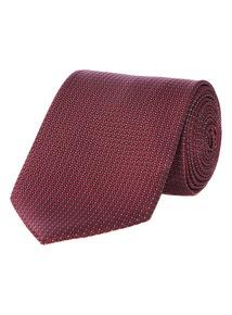 Burgundy Spot Textured Tie