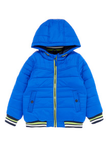 Boys Blue Bomber Jacket