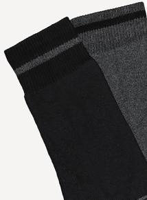 Grey & Black Blister Resist Socks 2 Pack