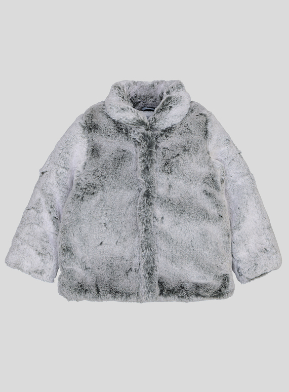 a7c922c3a SKU: AW18 PH2 GREY FUR COAT:Grey