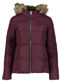 Reversible Burgundy & Floral Padded Coat