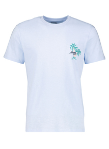 Blue 'Miami Surf' Crew Neck T-Shirt