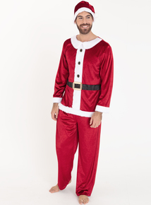 Online Exclusive Christmas Red Mr Santa Costume (XS-XL)