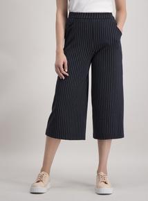 Navy Pinstripe Culottes