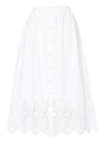 White Schiffly Skirt