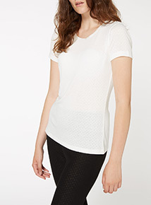Pointelle Thermal Tee