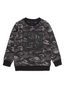 Black Skate Crew Camouflage Sweatshirt (3-14 years)