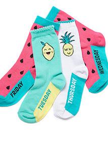 7 Pack Multicoloured Fruit Socks