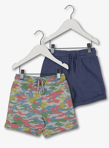 521ee91fff4ddd Multicoloured Sweat Shorts 2 Pack (9 months - 6 years)