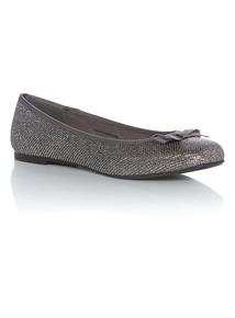 Silver Shimmer Ballet Shoes