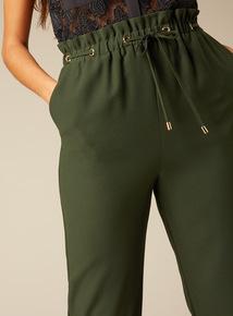 Premium Eyelet Paperbag Waist Trousers