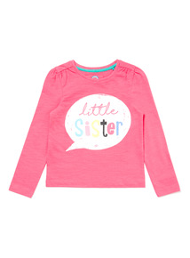 Pink Little Sister Top (9 months-6 years)