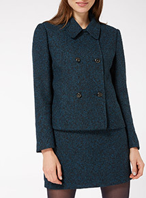 Buttoned Boucle Jacket