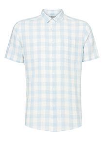 Online Exclusive Regular Fit Linen Rich Gingham Shirt