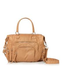 Tan Washed Long Pull Bag