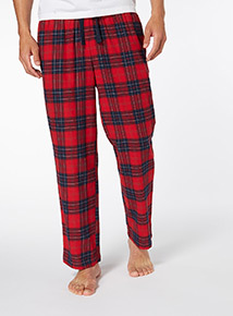 Red Checked Flannel Loungewear Trouser