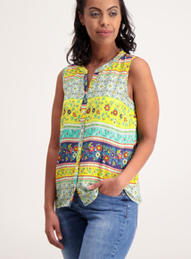 Online Exclusive Multicoloured Floral Print Shell Top