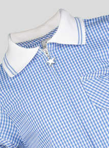 Blue Gingham Playsuit (3-12 years)