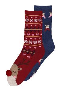 Christmas Reindeer Socks 2 Pack