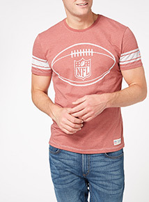 Red NFL Vintage ball Logo Tee