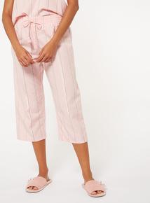 Stripe Cropped Pyjama Bottoms