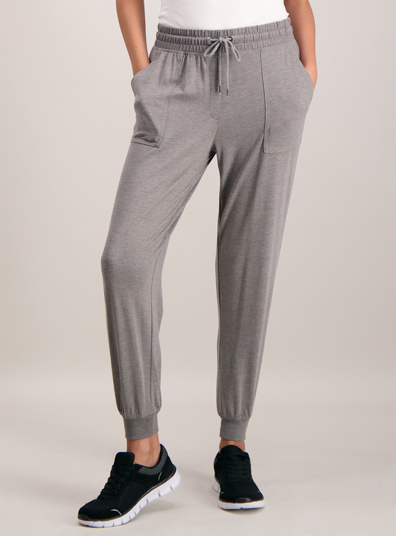 Grey Patch Pocket Joggers