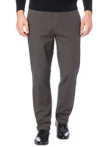 Charcoal Straight Stretch Twill Chinos