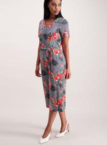 Multicoloured Gingham Print Culotte Jumpsuit