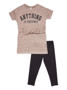 Pink Anything Is Possible Snit Tee and Legging Set (3-14 years)