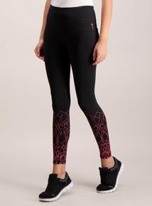 Active Black Graphic Print Legging
