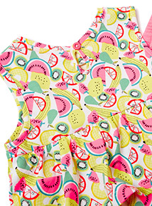 2 Piece Multicoloured Fruit Top and Shorts Set (9 months-6 years)