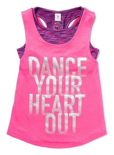 Pink Dance Vest Top and Crop Top Set (3-14 years)