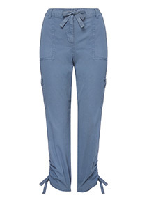 Twill Cropped Trousers