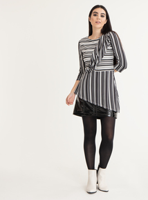 GFW Black & White Striped Jersey Top