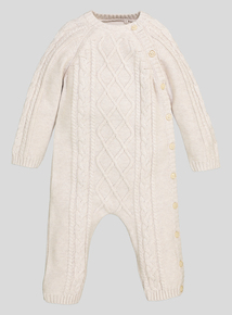Cable Knitted Romper (Newborn- 12 Months)