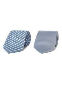 Blue Ties 2 Pack