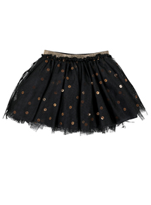 Halloween Black Tulle & Sequin Skirt (9 months-3 years)