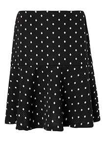 Monochrome Spot Flippy Skirt