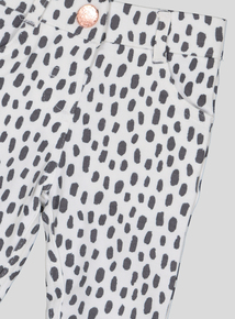 White Dalmatian Print Puppy Jegging (9 months - 6 years)