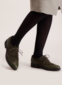 Premium Khaki Green Brogue Shoes
