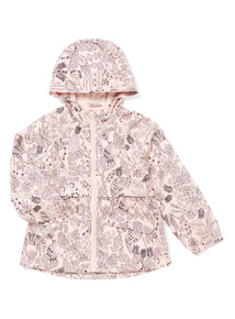 Pink Zebra And Leaf Print Coat (9 months-6 years)