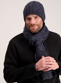 Toasties By Totes Blue Chunky Knit Scarf