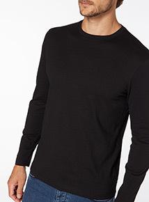 Black Basic Long Sleeve Top