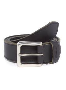 Black Casual Leather Belt