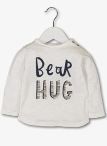Cream 'Bear Hugs' Long Sleeve T-Shirt (0-24 months)