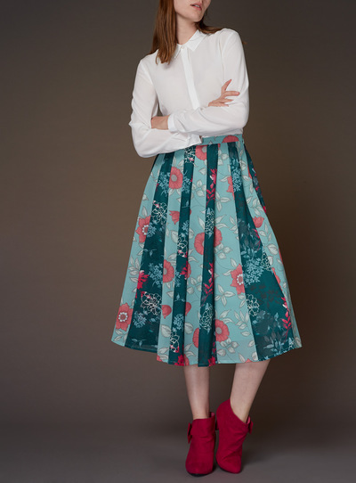 Premium Printed Panelled Skirt