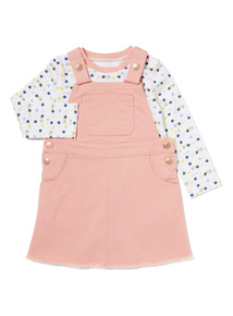 Pink Pinny and Body Set (0-24 months)